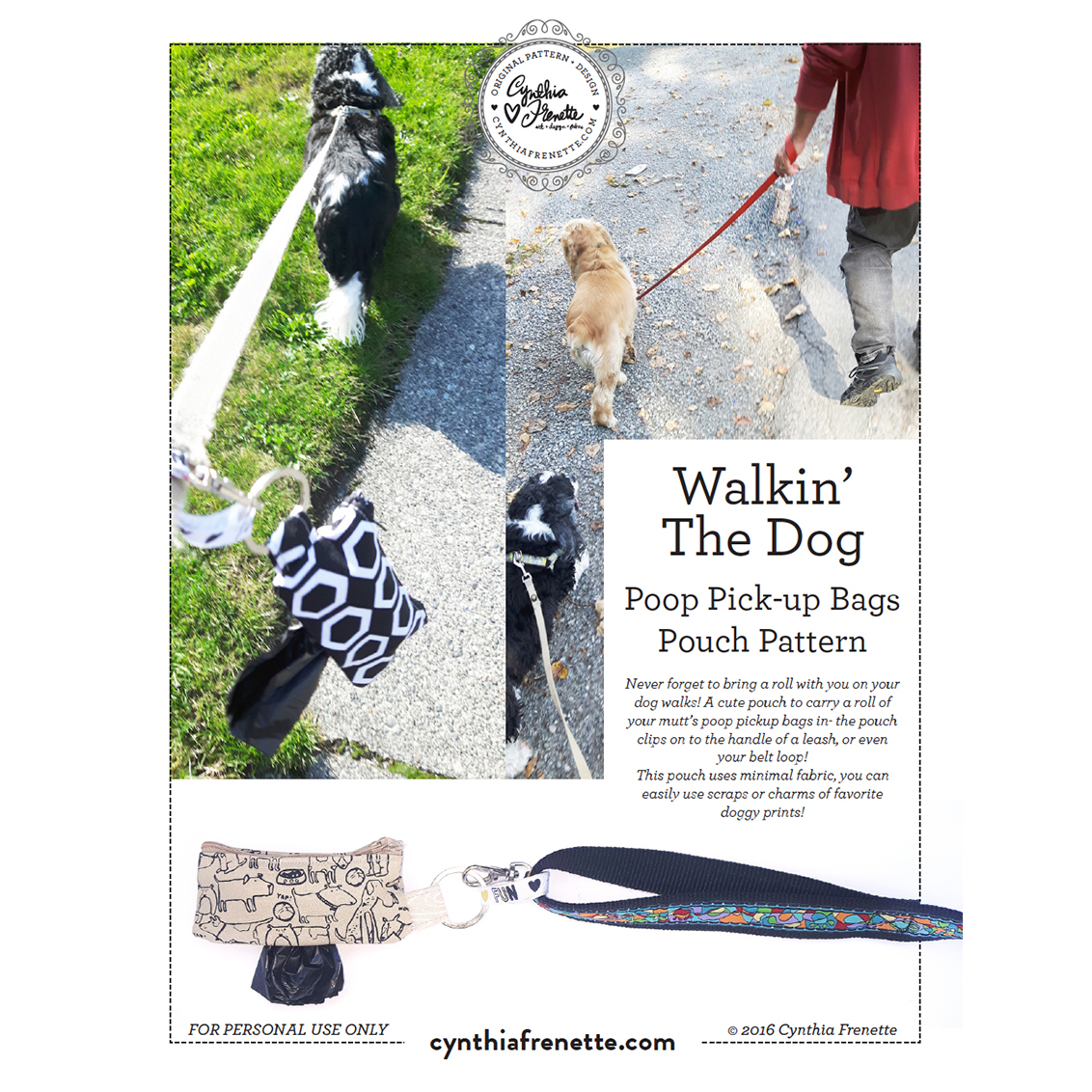 clings to the leash Pocket roll bag to collect small nature of your pet poop