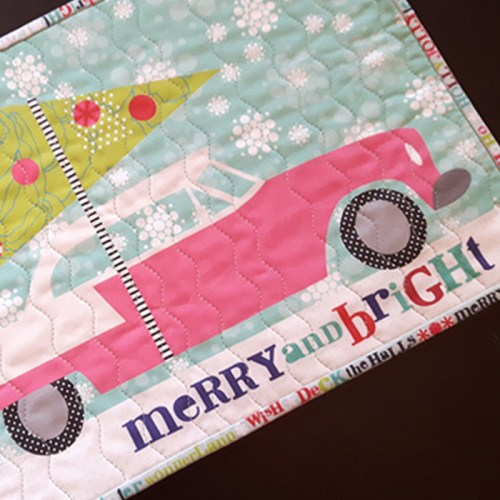 Merry and Bright Table Runner, just add batting!