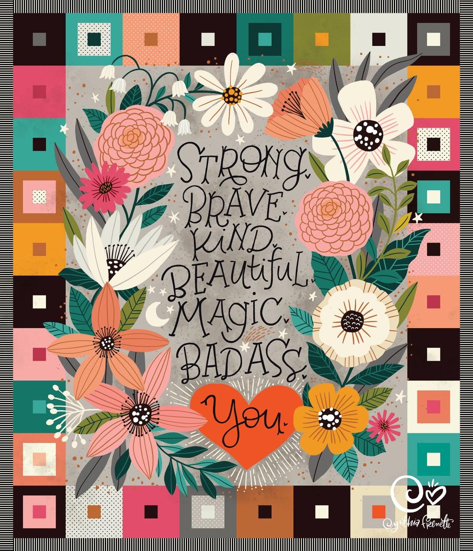 floral quilt