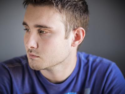 sad young man