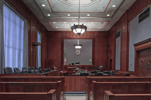An American courtroom