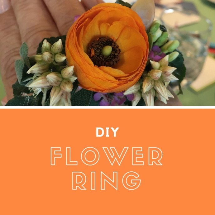 DIY a flower ring