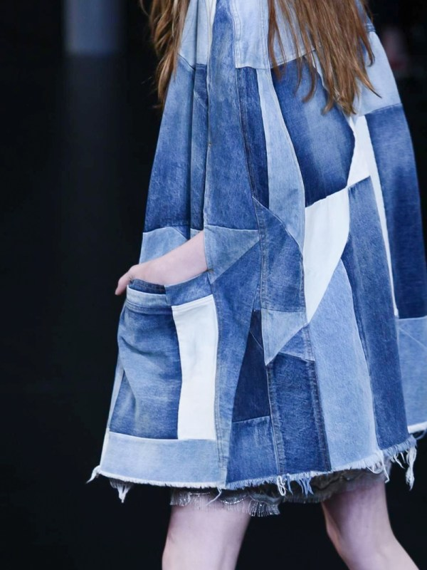 Saint Laurent Patchwork Denim Coat