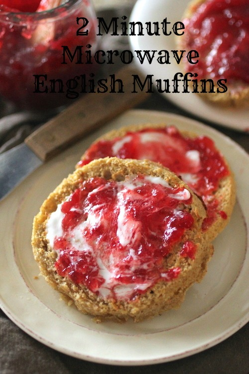 2 minute microwave english muffins