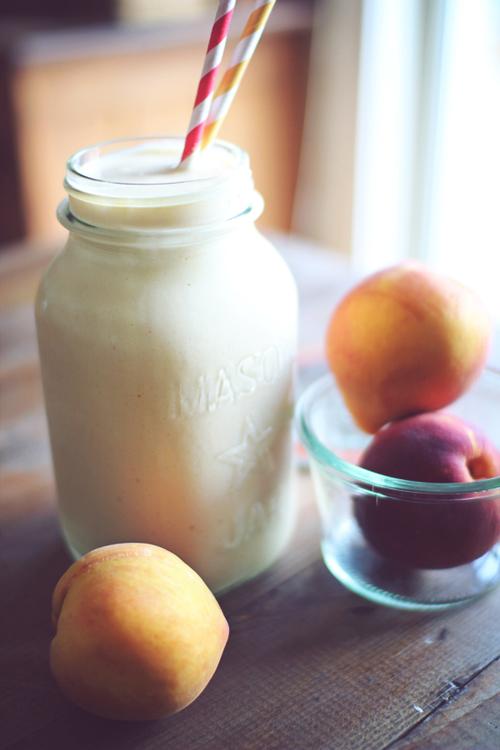 peach coobler protein shake