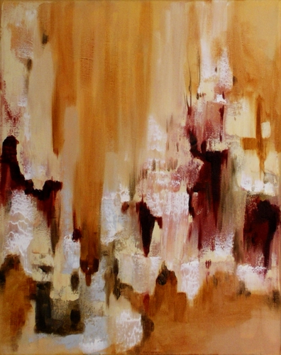 "Revelation 11"" x 14"" Abstract Oil Painting by Cynthia Ligeros"