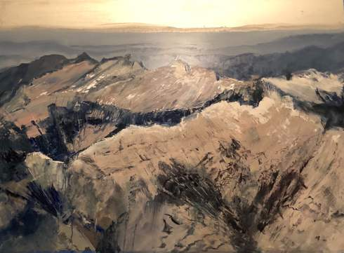 """Ridgelines"", 40"" x 52"", oil on aluminum, $7300"