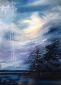 """Weeping Sky"", oil on aluminum, 39"" x 51"", $6900"
