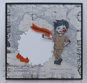 Zombie scrapbook page - www.cynthiascreativecorner.com