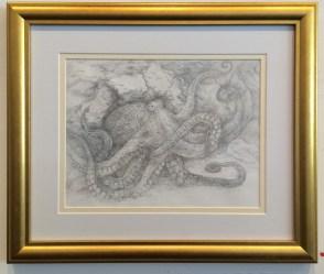 Octopus #1 Medium: Silverpoint