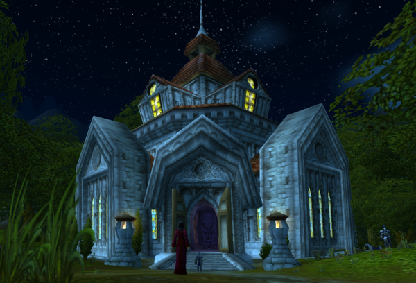 Northshire Abbey At Night