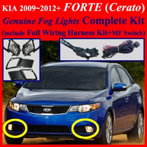 Fog Light Lamp Complete Kit  Wiring Harness Kit for