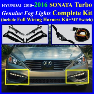 Fog Light Lamp Complete Kit,Wiring Harness for 2015~2016