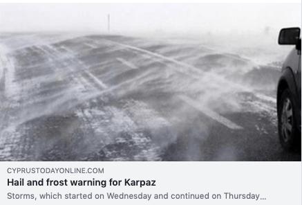 Frost i Karpaz, som är en stor naturupplevelse