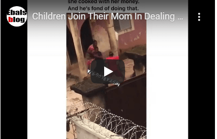 Gbas Gbos! Children Join Their Mom In Dealing With Their Dad For Finishing Food She Cook