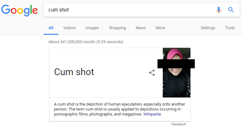 Dear Google: Why are You Associating Ejaculate with a Muslim Girl?