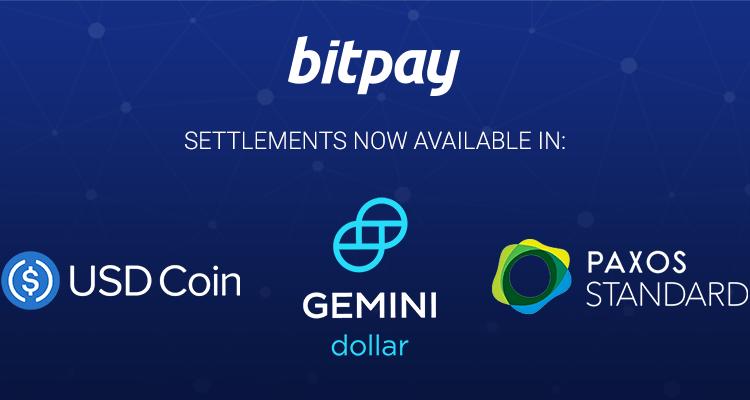 BitPay añade soporte para pagos con Stablecoins