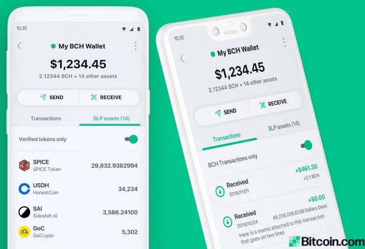 Bitcoin.com Wallet recibe actualización: ahora incluye gráficos en vivo y seguimiento de precios