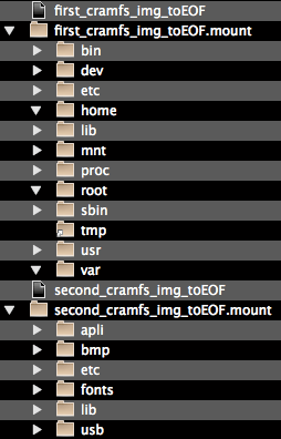 HVX200 CramFS directory structure