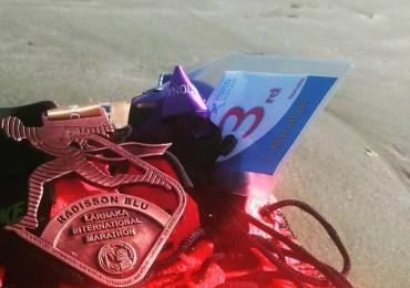 Polka na podium maratonu w Larnace