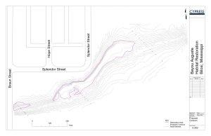 CAD grading plan for floodplain restoration