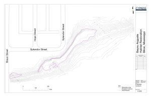 CAD grading plan for floodplain restoration