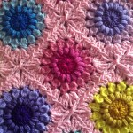 Crochet Sunburst Flower Blanket Free Tutorial, Plus Continuous Join as you go