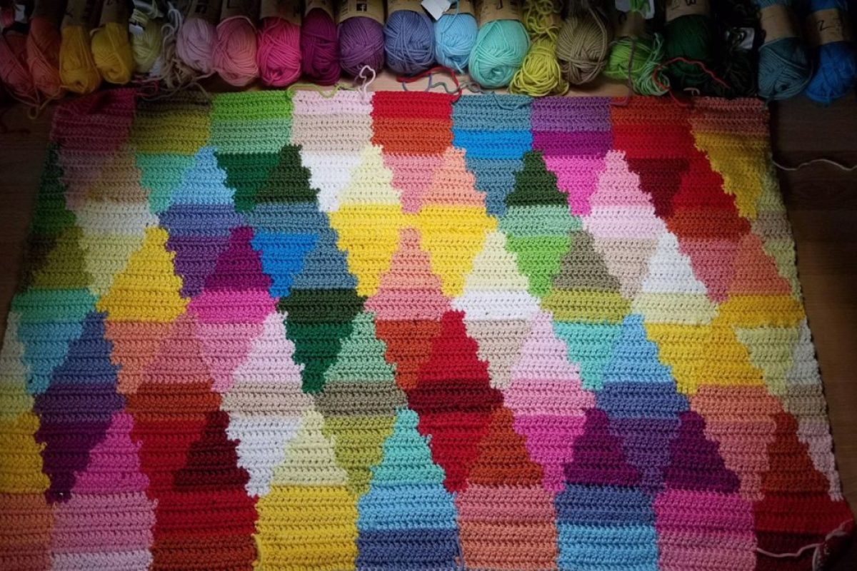 Birdsong Crochet Blanket Pattern: A colorful intarsia dream with granny square border