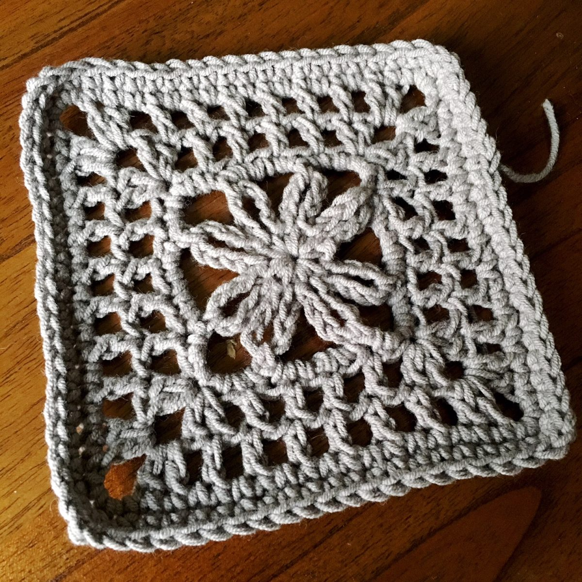 Crochet Motif: Live Oak Square