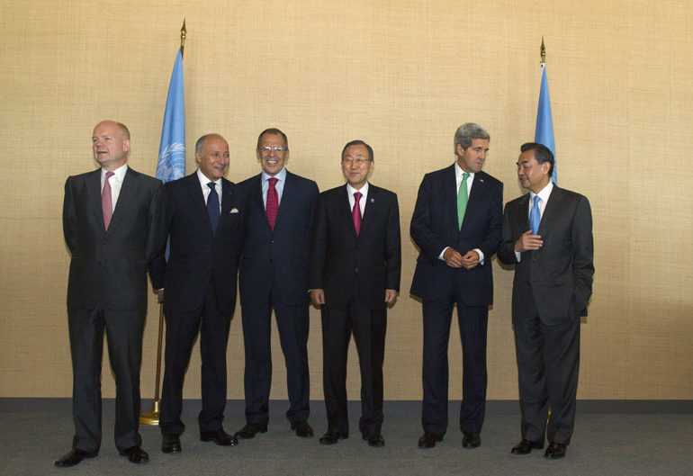 The UN Big 6 determining course of action to be taken in Syria