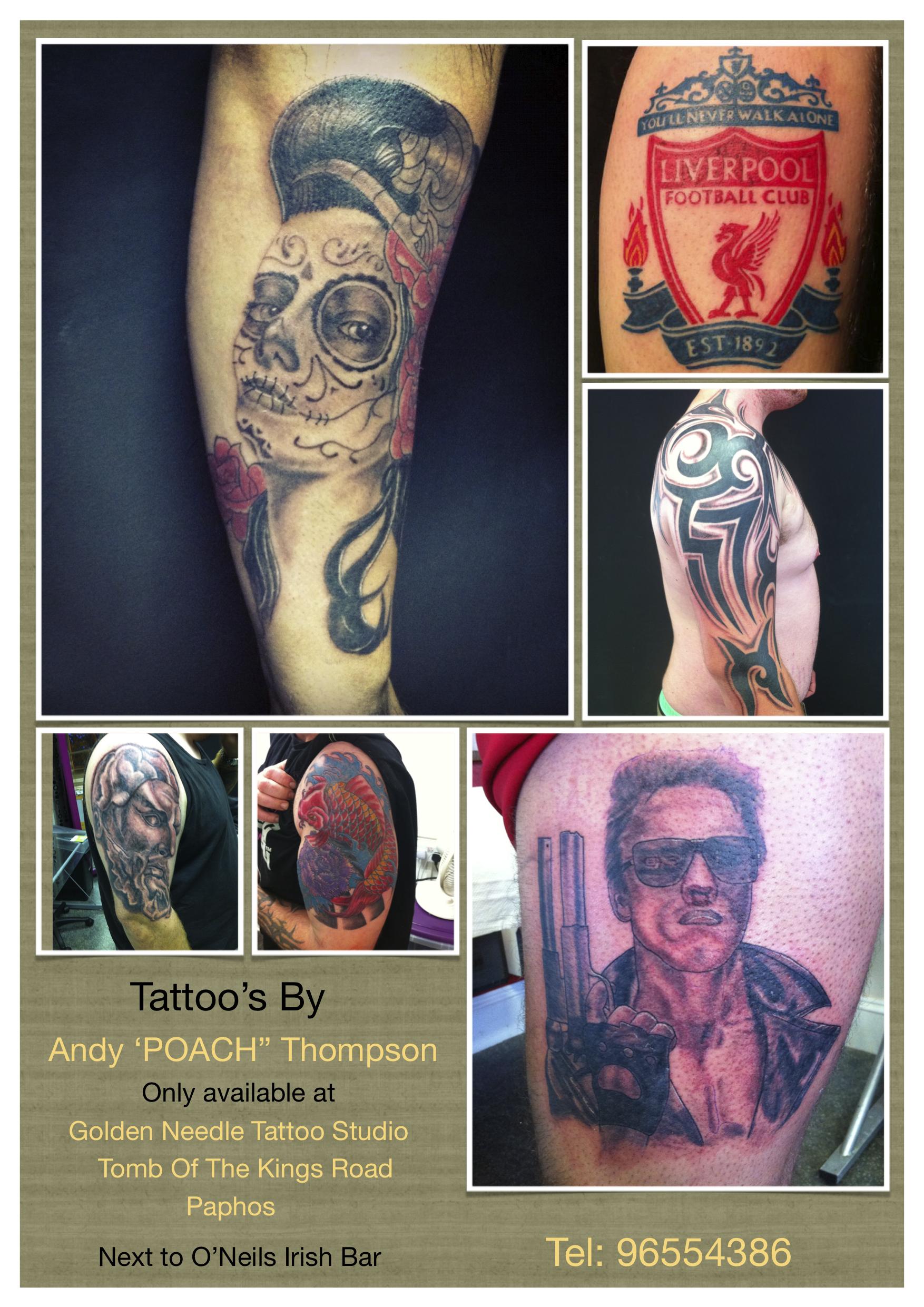 Golden Needle Tattoo Studio Cyprus Com