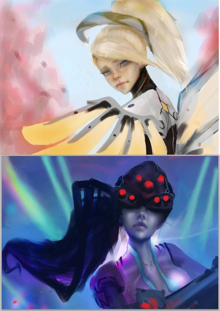 mercy_and_widowmaker___overwatch____wips_by_chryssv_da1f1cm-pre