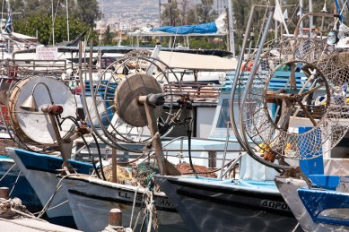 Paphos fishing boats