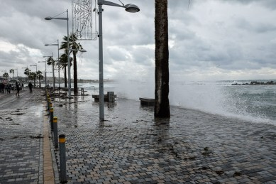 Storm on Paphos seafront