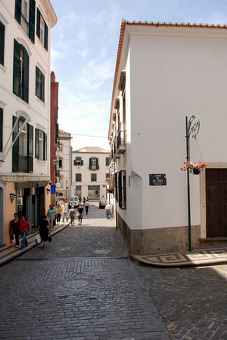Funchal, we loved it. Shiny cobbled streets everywhere.