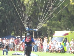 Parachute dropping in...