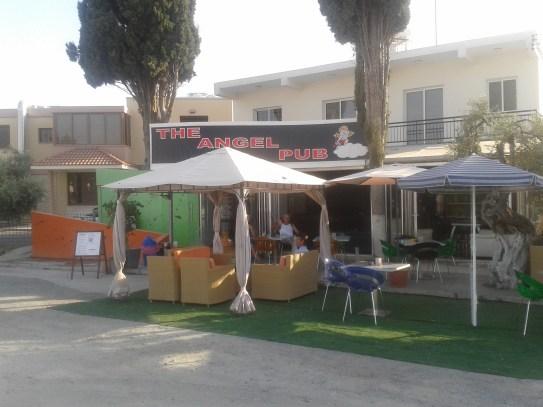 The Angel Pub in Kolossi.