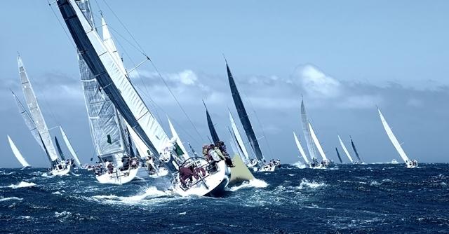 Cyprus sailing race drone photo