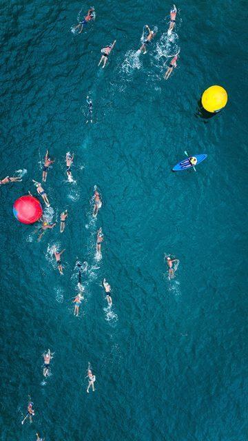 In Cyprus swimming race