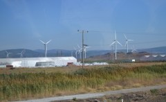 On the road to Izmir we go past many wind farms
