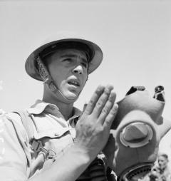 3. NCO Cyprus Regiment gas mask practice 1941