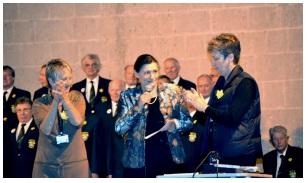 Raziye Kocaismail (centre) Carole King (left) Sue Tilt (right)