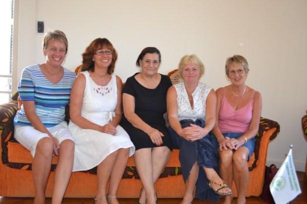 Sue, Jane, Raziye, Pam and Carole