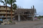 A new structure is taking shape in the car park of the hotel