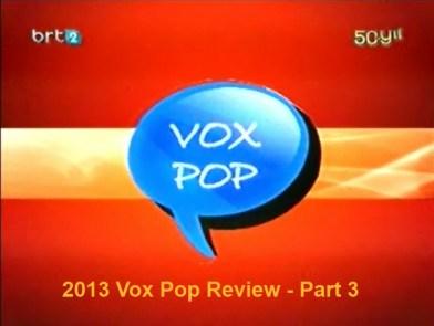 2013 Review Vox Pop - Part 3
