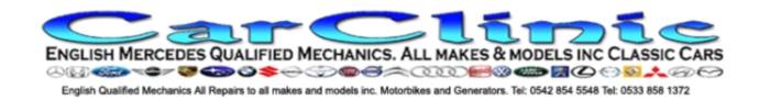 Car Clinic logo banner