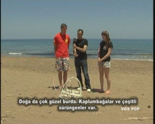 (left) Roger, Engin and Kirsty at Alagadi (right)