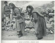 Village life - Women carrying rocks National Geographic 1928