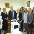 The NCCCT Committee with Health Minister, Ahmet Gulle (centre)
