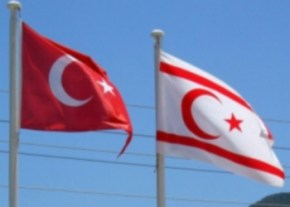 TRNC and Turkish flags image